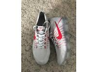 Nike Air vapormax, grey silver white red Uk size 10 Nikelab Flyknit trainers men's