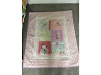 Mamas and papas made with love large blanket/coverlet/ cover/ play mat in beautiful condition
