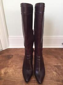 LKB Leather Knee High Boots