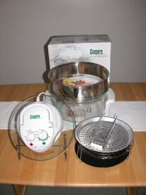 Coopers Halogen Cooker with Accessories. Useful if you need an extra oven over Christmas.