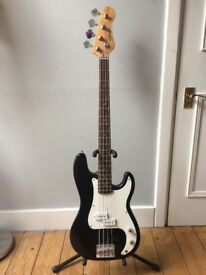 Black Stagg bass guitar
