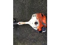 Stihl km56c engine with hedge trimmer attachment