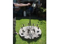 Large Gothic Style Hanging Candle Chandelier