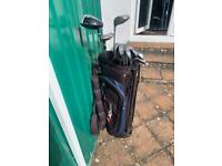 Old Golf Clubs & Bag