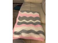 Handmade crochet baby blankets made to order in any colour combination price depends on size