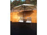 COMPANION SEAT WITH PARASOL AND BASE BRAND NEW BARGAIN