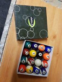Debut pool balls