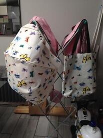 Bugaboo donkey andy warhol pink butterflies hood and bag boxed