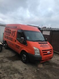 2007 ford transit mwb hightop ex h huge side canopy ideal spares repairs export