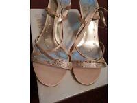 BHS Champagne Colour Bridal Sandals