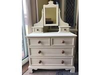 Up Cycled Solid Pine Dressing Table/Chest of Drawers (Can Deliver)