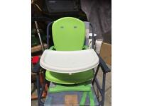 Mothercare Green Folding Travel High Chair
