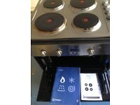 Integrated double oven and hob