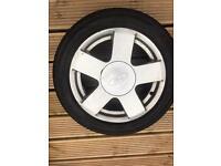 Fiesta wheel good condition nearly new 195/50/15 tyre