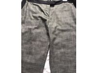 Ladies Grey Mix River Island Smart Trousers (new)