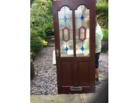 Glazed Mahogany Harwood Door