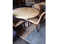 ex Display MARBLE round table and four modern chairs