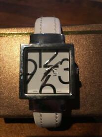 White charming Charlie watch