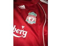 Kids Liverpool football shirt Carlsberg
