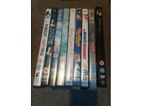 Various dvds including big bang theory, James Bond, lego films