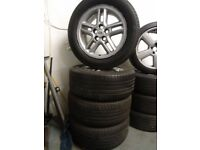 "18"" RANGEROVER ALLOYS MATCHING GOODYEAR TYRES ALL RUND NO KERBING CRACKS CLEAN WHEELS £225ono"
