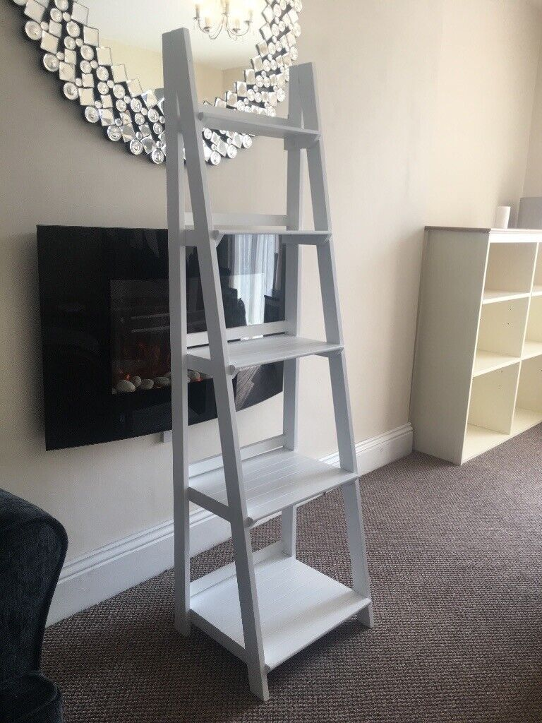 huge discount 9f57f 4aa33 Ladder Shelve NEW RRP £79.99 Wayfair Bookcase - White Ladder Unit - White  Wooden Shelving Stand   in Moston, Manchester   Gumtree