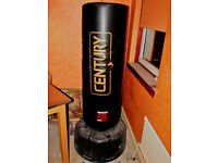century wavemaster 2xl freestanding punchbag and lounsdale gloves.