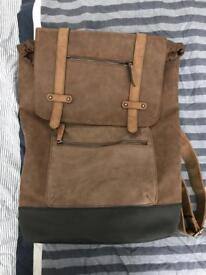 Leather rucksack for sale.