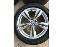 BMW X5 19 inch ALLOY WHEELS & TYRE -- e70 f15