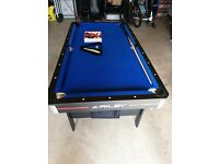 Riley 5ft folding pool table brand new,blue colour