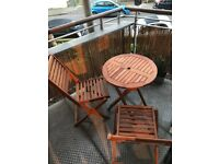 Garden Table and 2 Chairs