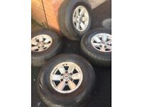 Ford ranger alloys with tyres