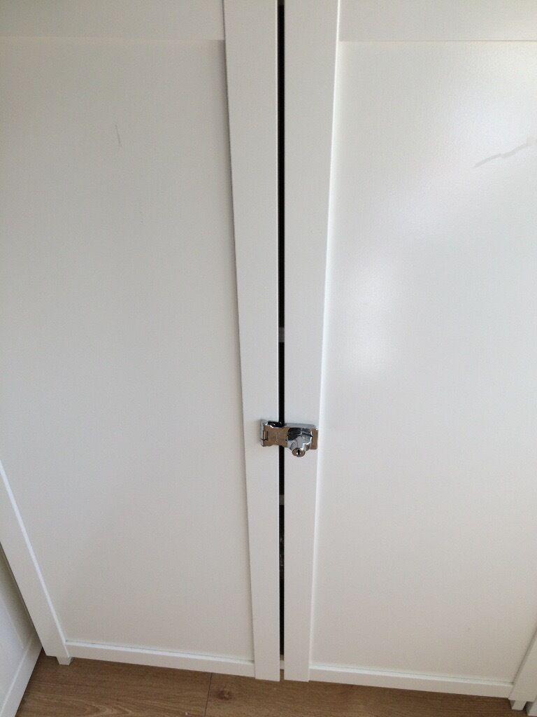 2 X Oxberg Doors Locks For Ikea Billy White Bookcase