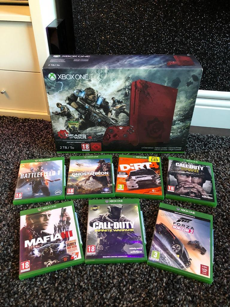 Xbox one s gears of war limited edition 2TB