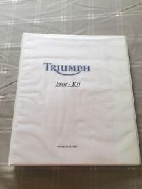 Hinckley triumph press kit