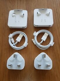 Apple Ear Pods and USB Power Adapter