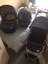 Hauck Malibu XL apples and pears travel system pushchair