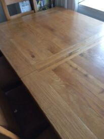 Dining table reclaimed wood Barker & stone house 6-8 foot long