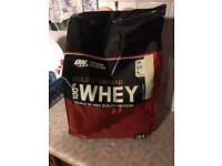Gold standard whey (Vanilla ice cream)