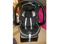 Chicco baby car seat with head hugger