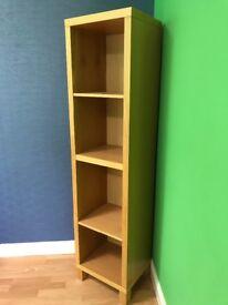 Tall Cube Shelf Unit [warm beech colour wood]