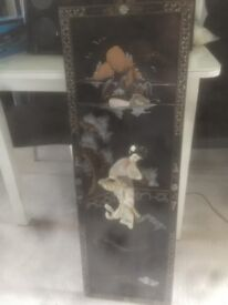 Chinese cabinet with matching picture really good condition