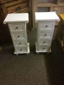 Pair of shabby chic bedside chests * free furniture delivery*