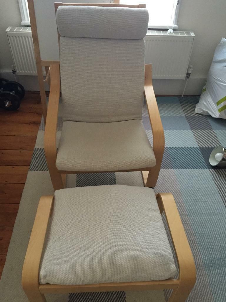 Ikea Aspelund Bedroom Furniture ~ IKEA Poang Chair & Footstool  in New Malden, London  Gumtree