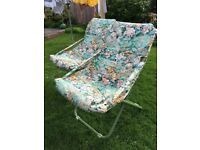 2 x FOLDING GARDEN CUSHIONED CHAIRS, GREAT CONDITION