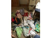 Baby bundle of clothes 0 to 9 months- 52 items