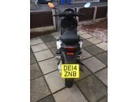 50cc moped white piaggio typhoon 2years old