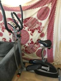 Exercise Bike / Elliptical Cross trainer 2in1
