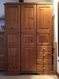 Solid Pine Wardrobe for Sale, Great Condition
