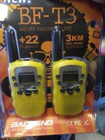 Pair of Walkie talkie 8 channel 2-way radio transceiver kids brand new
